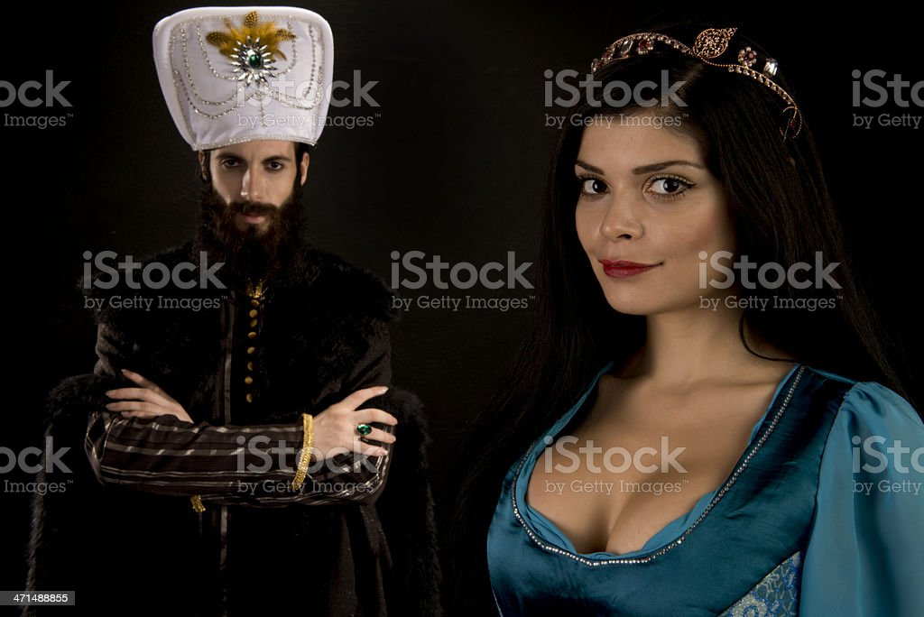 Ottoman Sultan and the Princess royalty-free stock photo