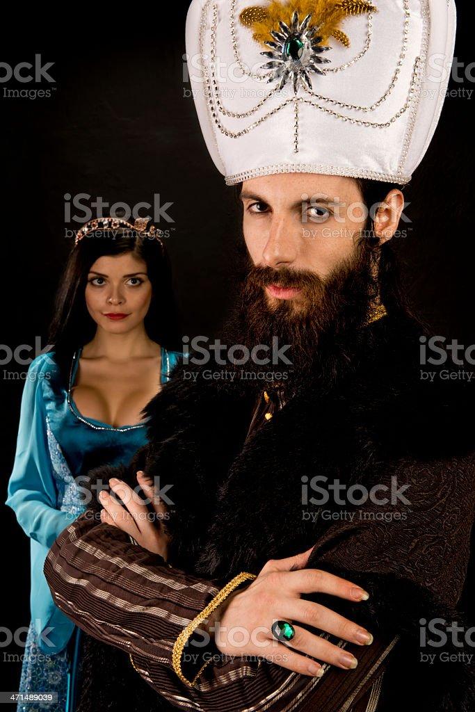 Ottoman Sultan and the Princess stock photo