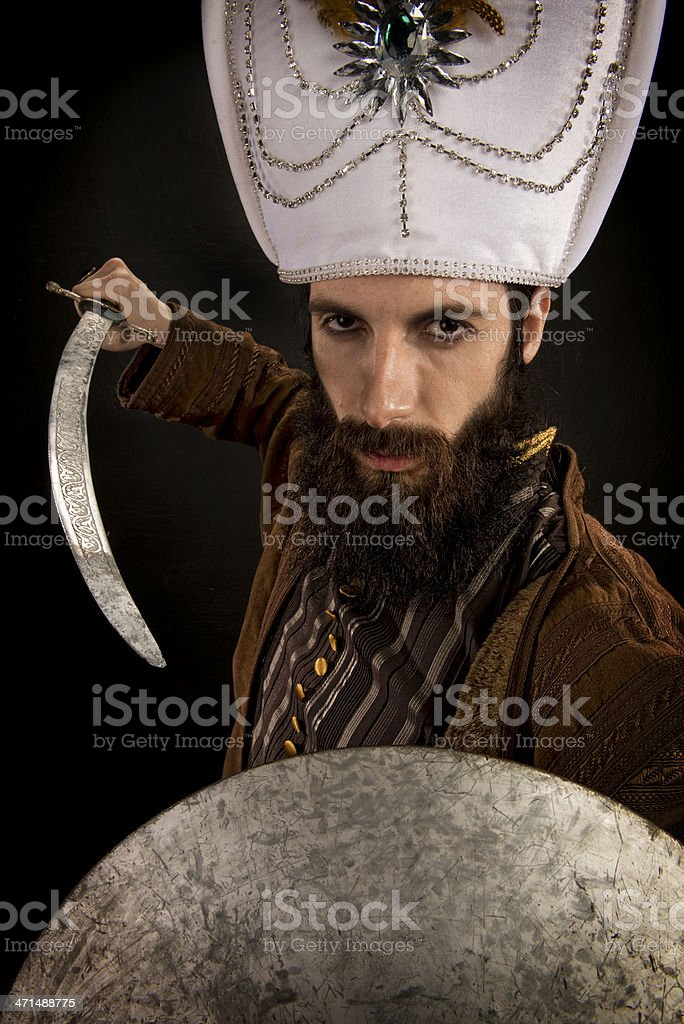 Ottoman Sultan stock photo