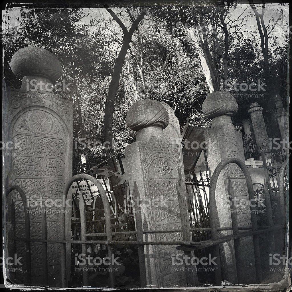 ottoman tombstones royalty-free stock photo