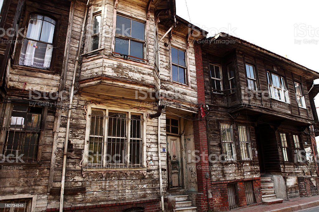 Ottoman Wooden Houses Sultanahmet Istanbul royalty-free stock photo