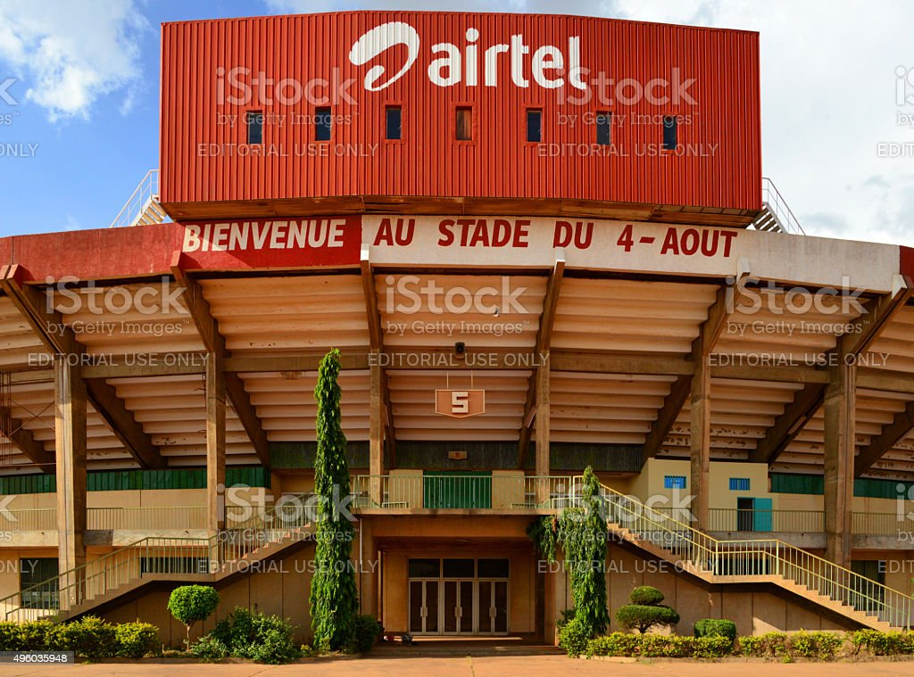 Ouagadougou, Burkina Faso:  4 Août stadium stock photo