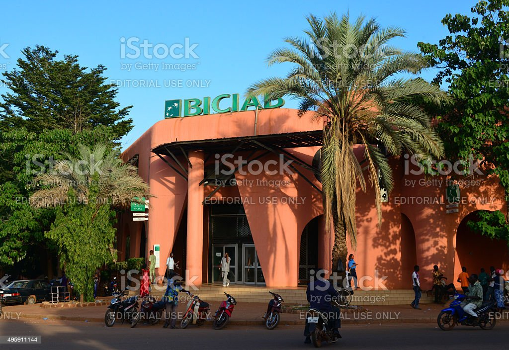 Ouagadougou, Burkina Faso: BICIAB bank stock photo