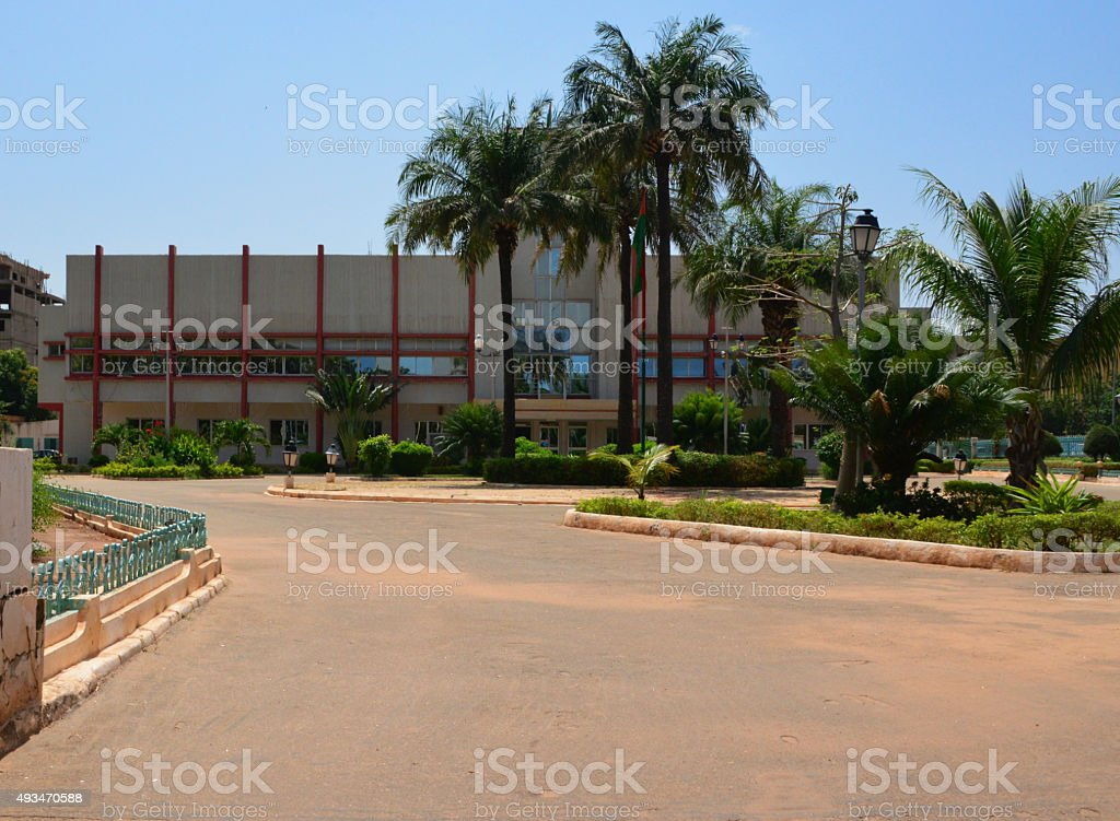 Ouagadougou City Hall, Burkina Faso stock photo