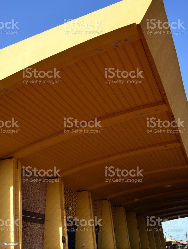 Ouagadougou train station / Gare stock photo