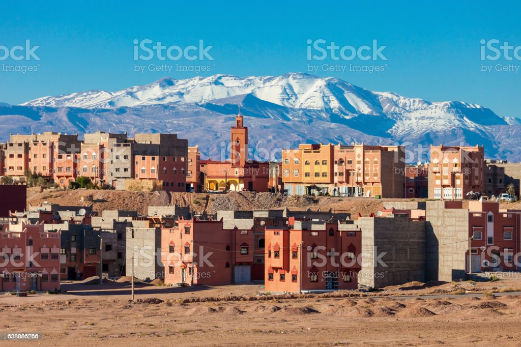 Ouarzazate city, Morocco stock photo