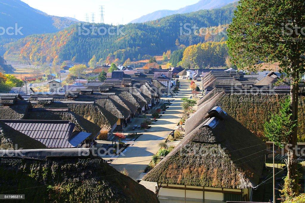 Ouchi-juku stock photo