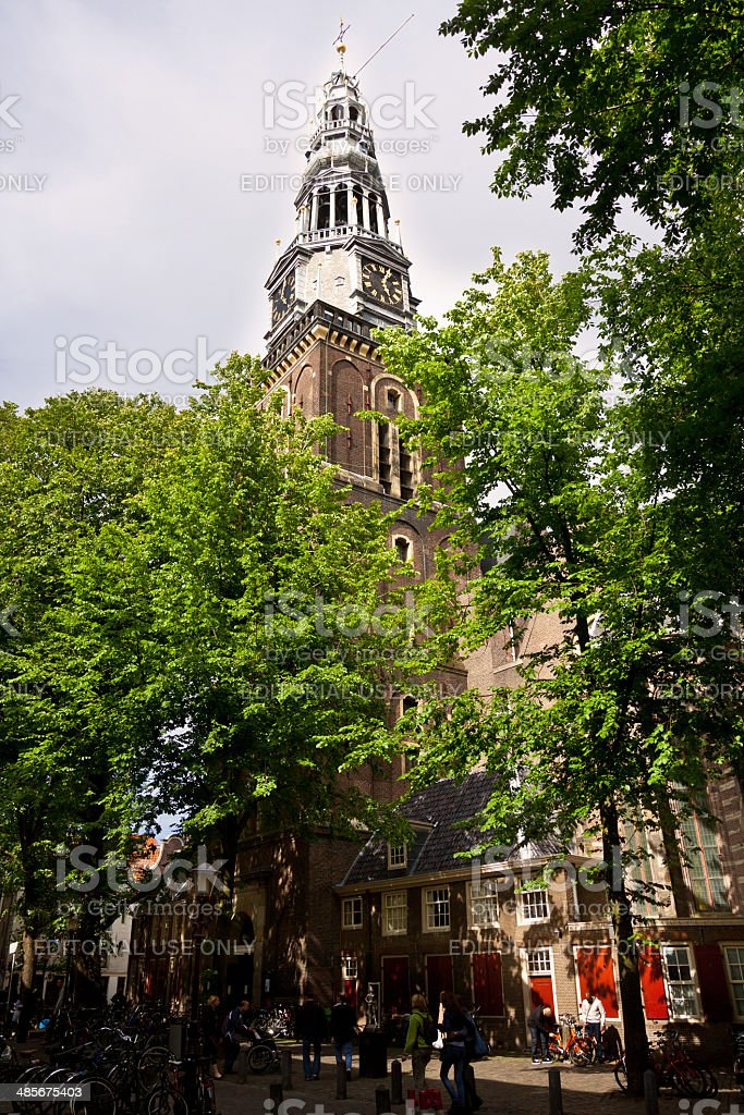 Oude Kerk (Old Church), Amsterdam. royalty-free stock photo