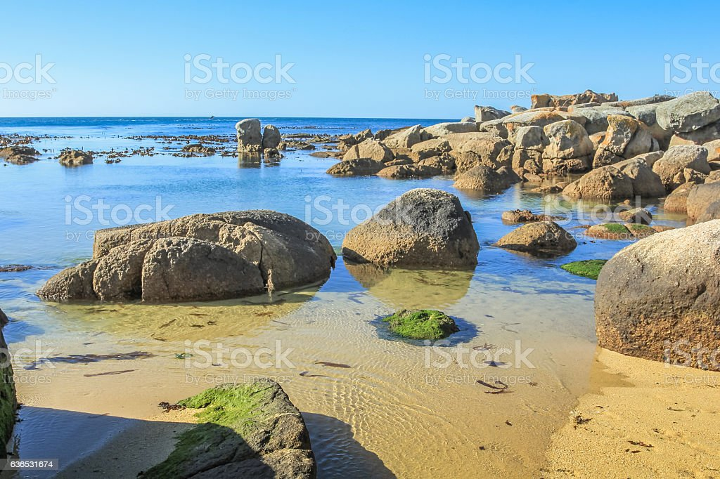 Oudekraal Beach Cape Town stock photo