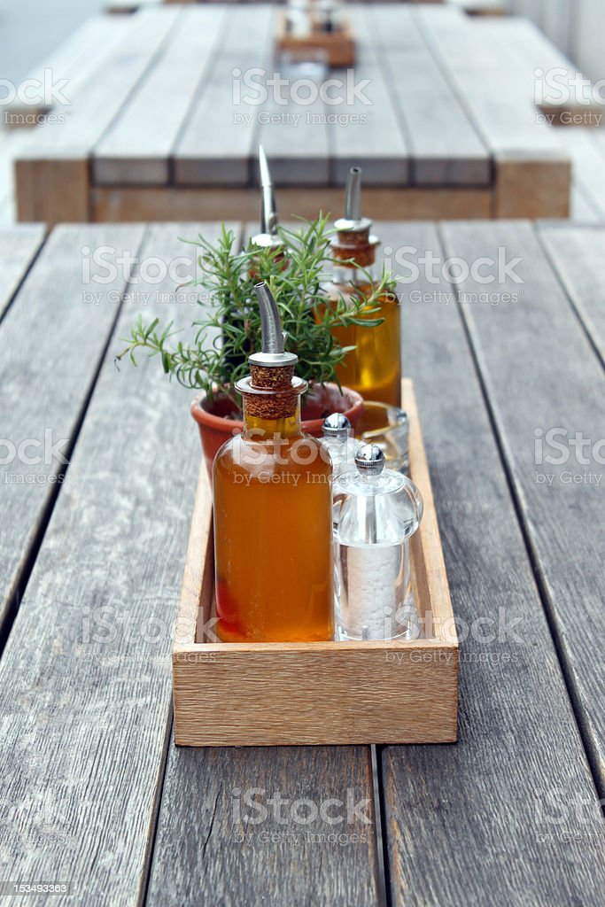 oudoor cafe table royalty-free stock photo