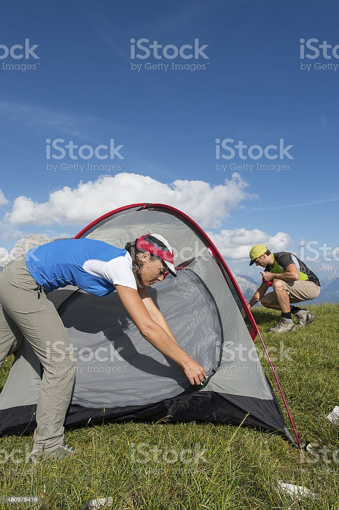 oudoor camping vertical images stock photo
