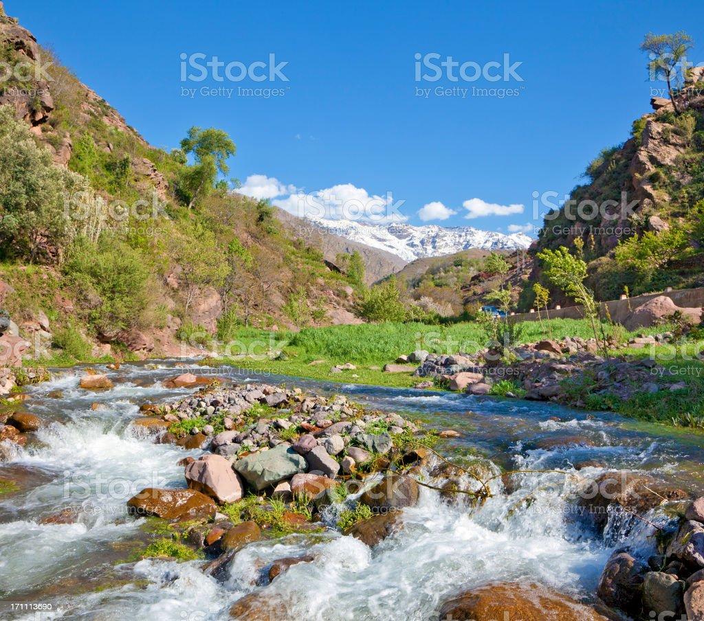 Ouirgane Snow Altas Mountains Morocco Africa stock photo