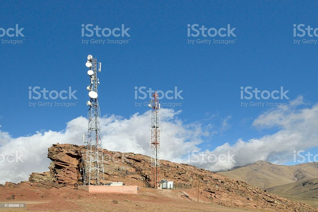 Ouka•meden Microwave Telephony Antenna stock photo