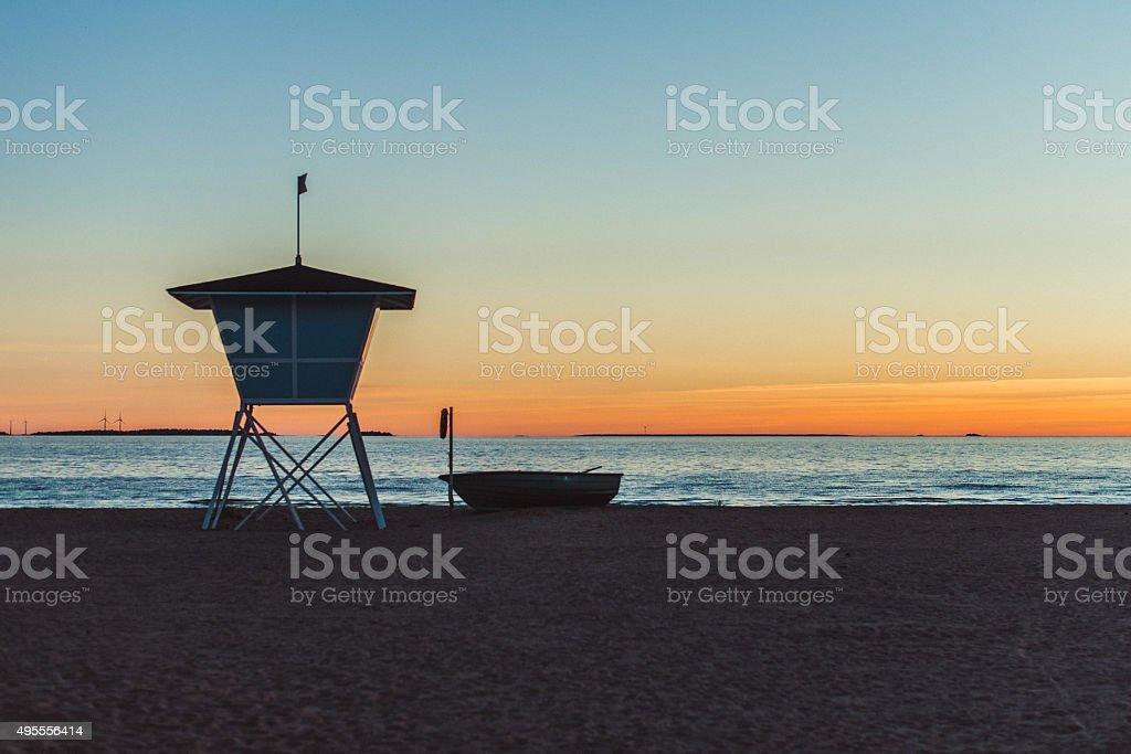 Oulu beach in Finland stock photo