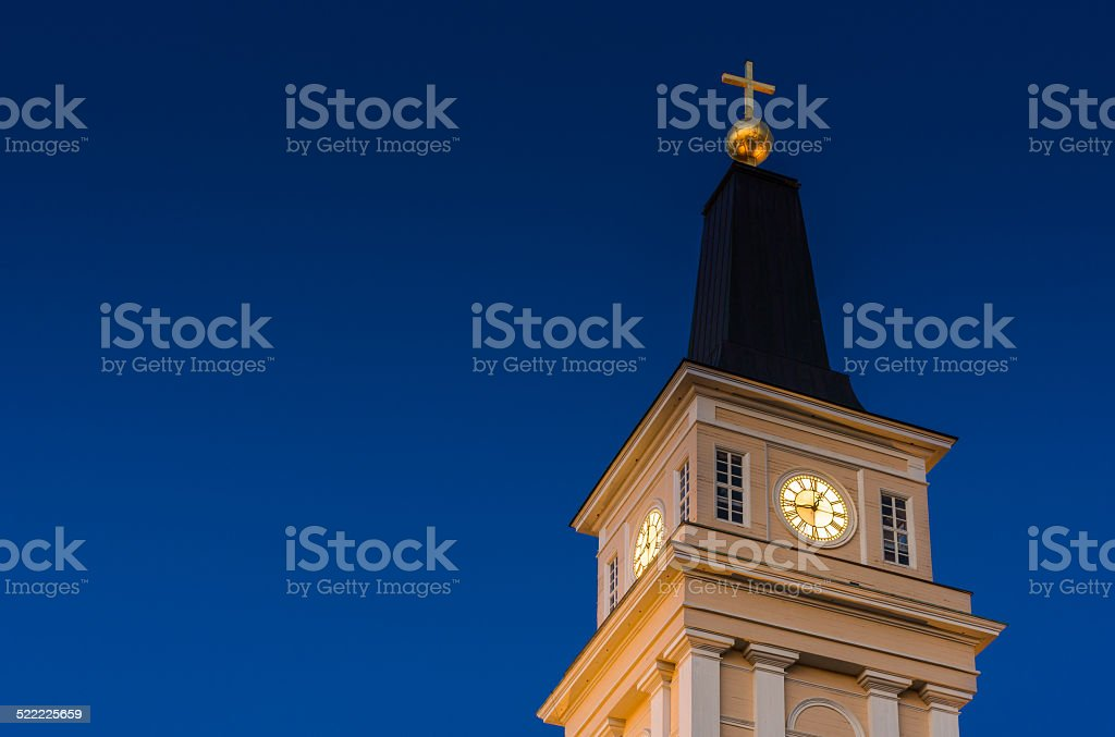 Oulu Cathedral Belfry stock photo