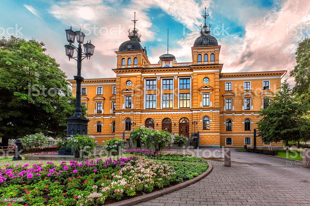 Oulu City Hall (Oulun kaupungintalo). Oulu, Finland. stock photo