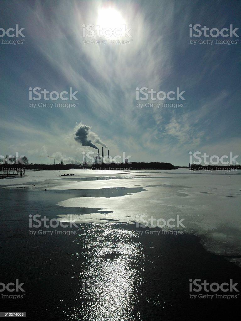 Oulu power plant stock photo
