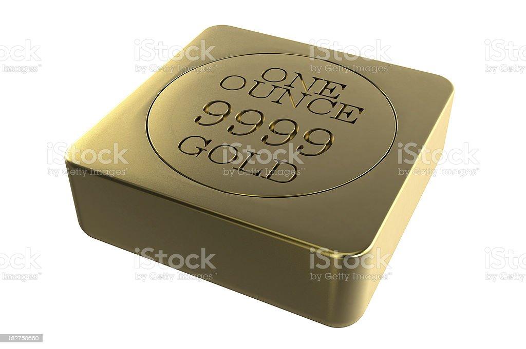 Ounce Gold Bar stock photo