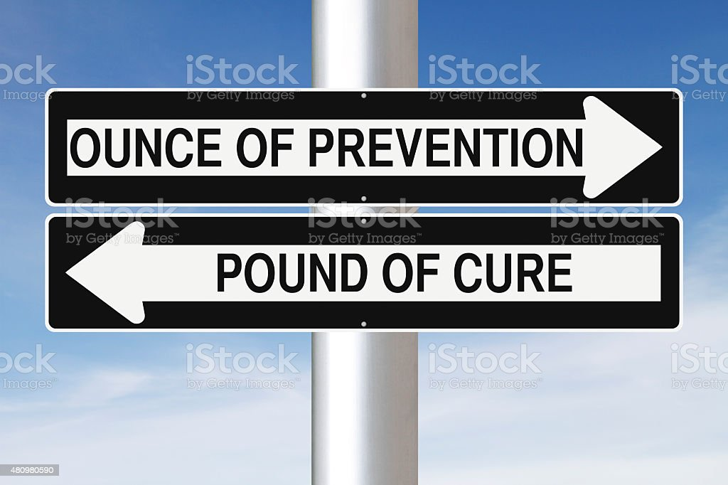 Ounce of Prevention stock photo