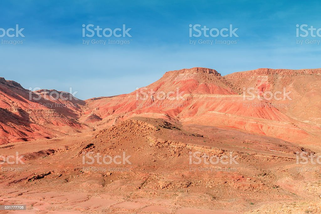 Ounila Valley Landscape. Morocco stock photo