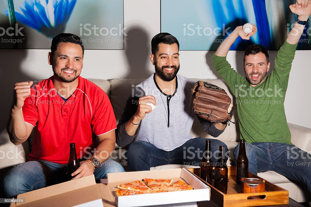 Our baseball team is winning stock photo