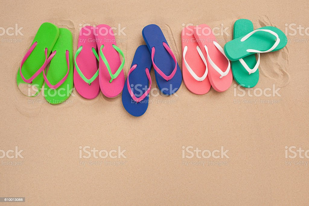 Our beach flip flop. stock photo