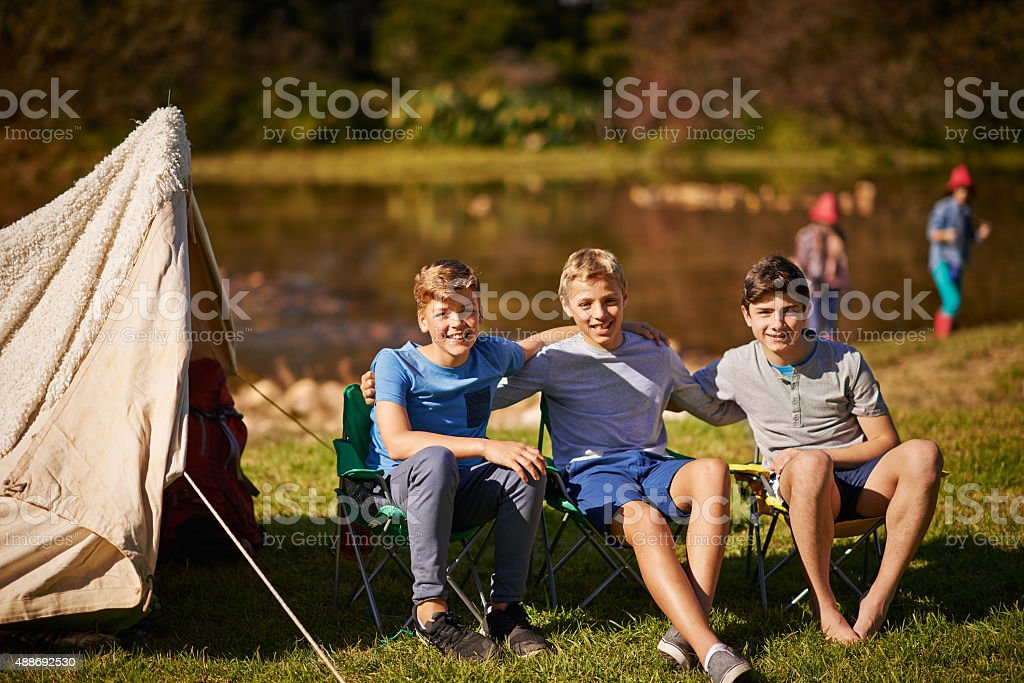 Our best camping trip yet! stock photo