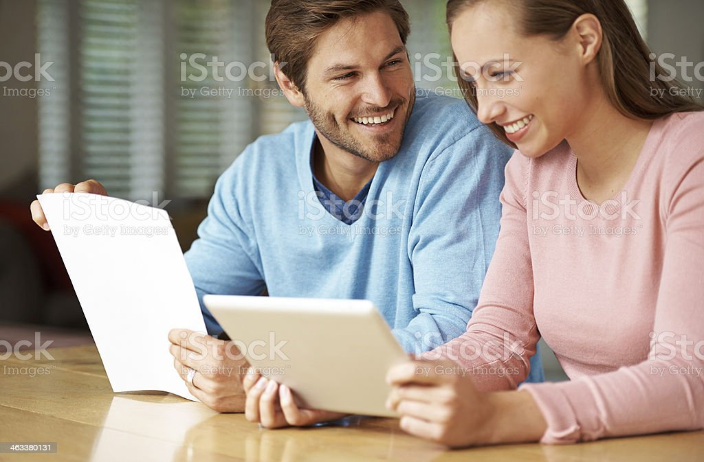 Our budget is looking excellent! royalty-free stock photo