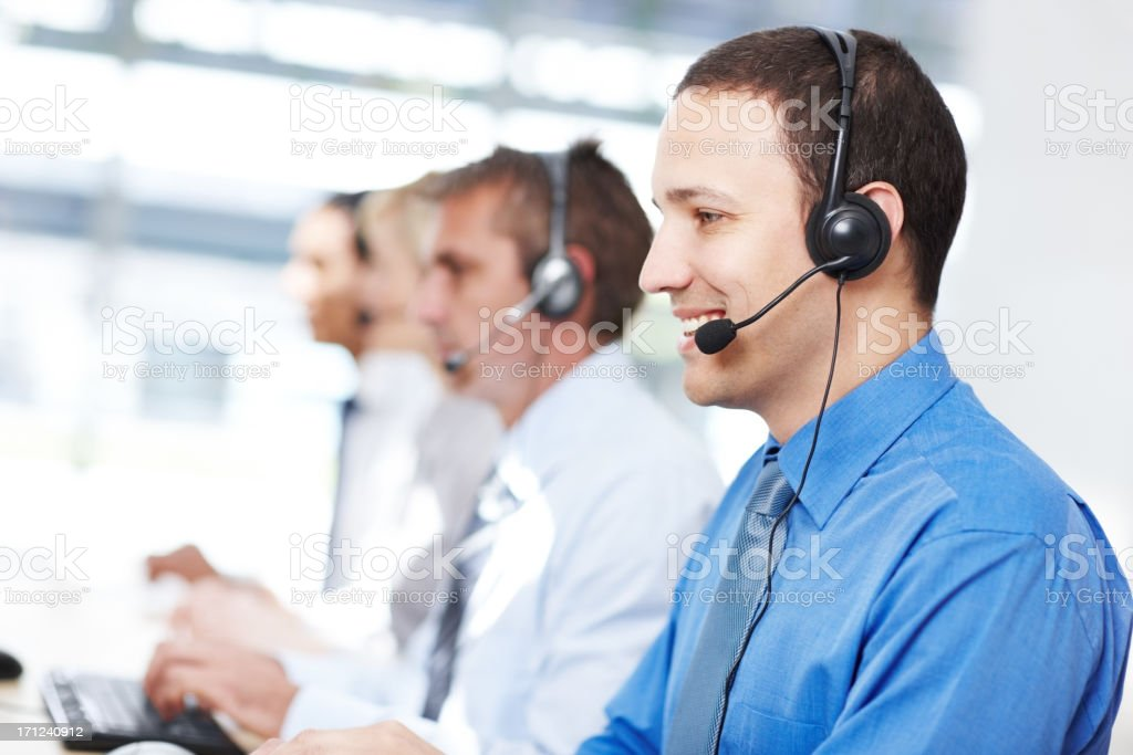 Our customer support is world class royalty-free stock photo