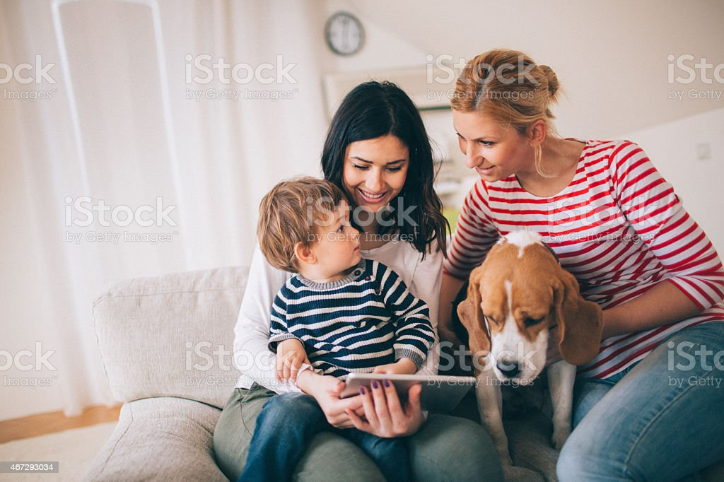 Our cute family stock photo