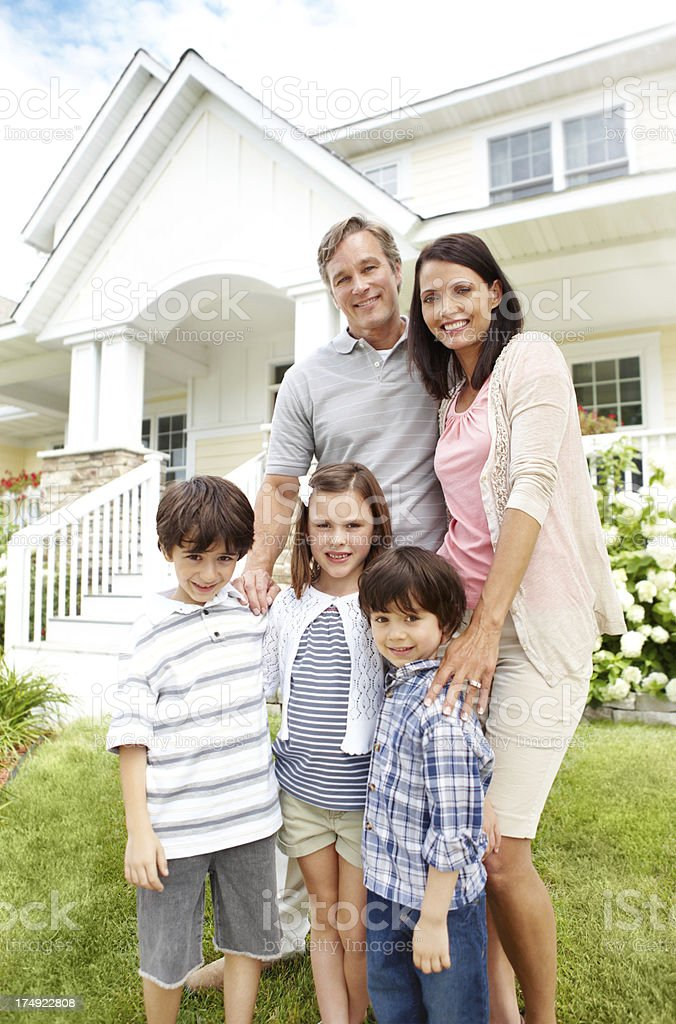 Our dream home with this wonderful family royalty-free stock photo