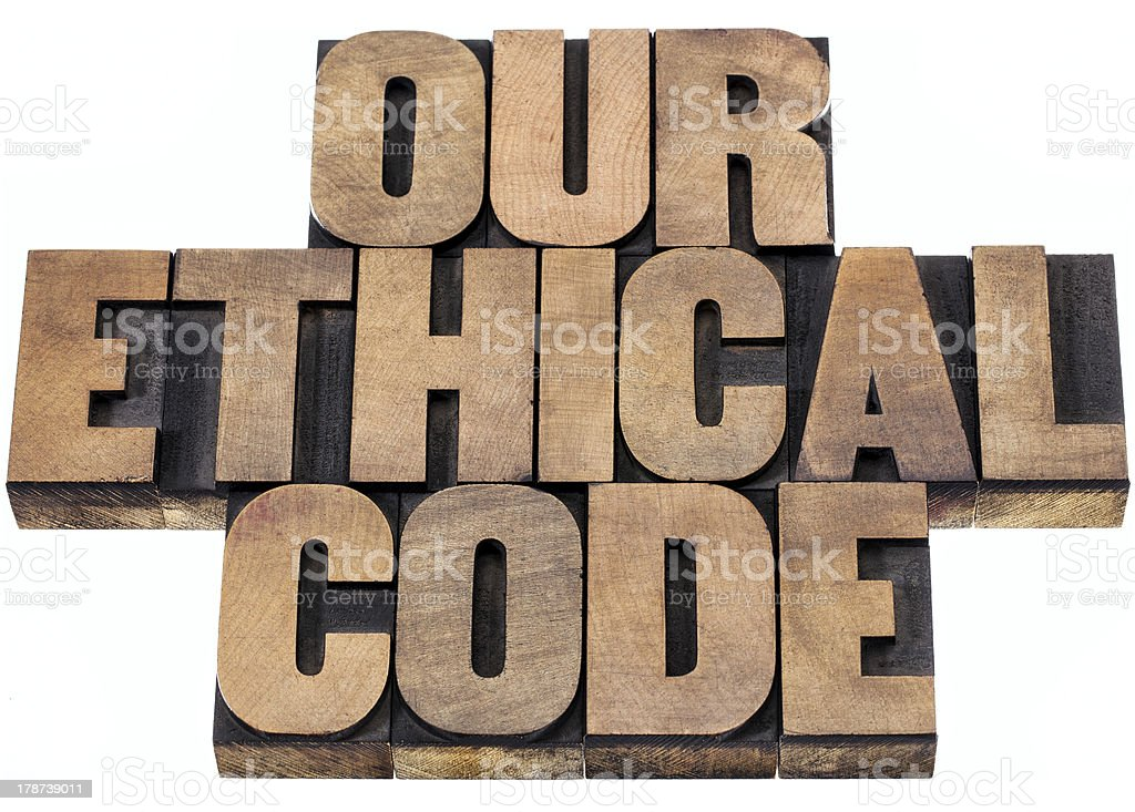 our ethical code royalty-free stock photo