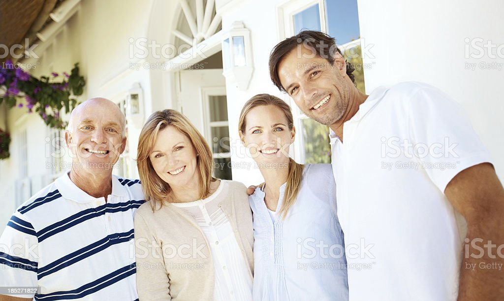 Our family is built on a great foundation royalty-free stock photo
