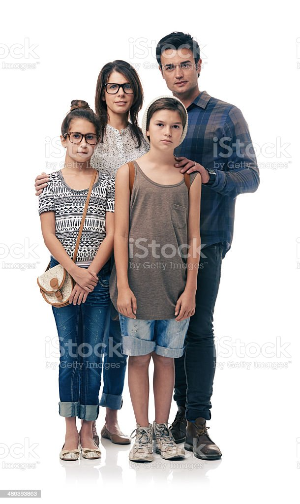 Our family is fashion forward stock photo