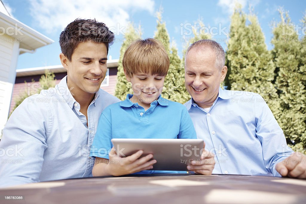 Our family is up to date with technology! royalty-free stock photo