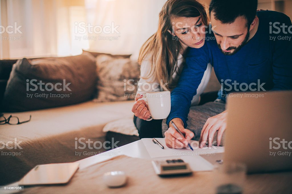 Our financial paperwork stock photo
