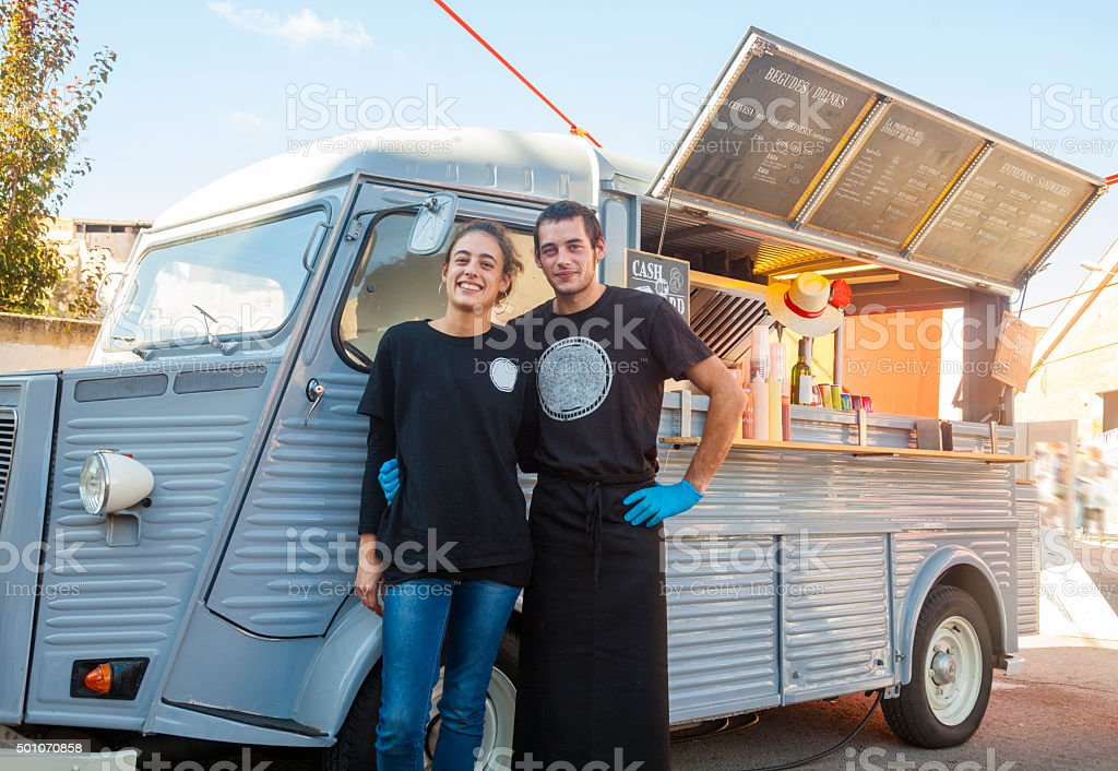 Our food truck stock photo