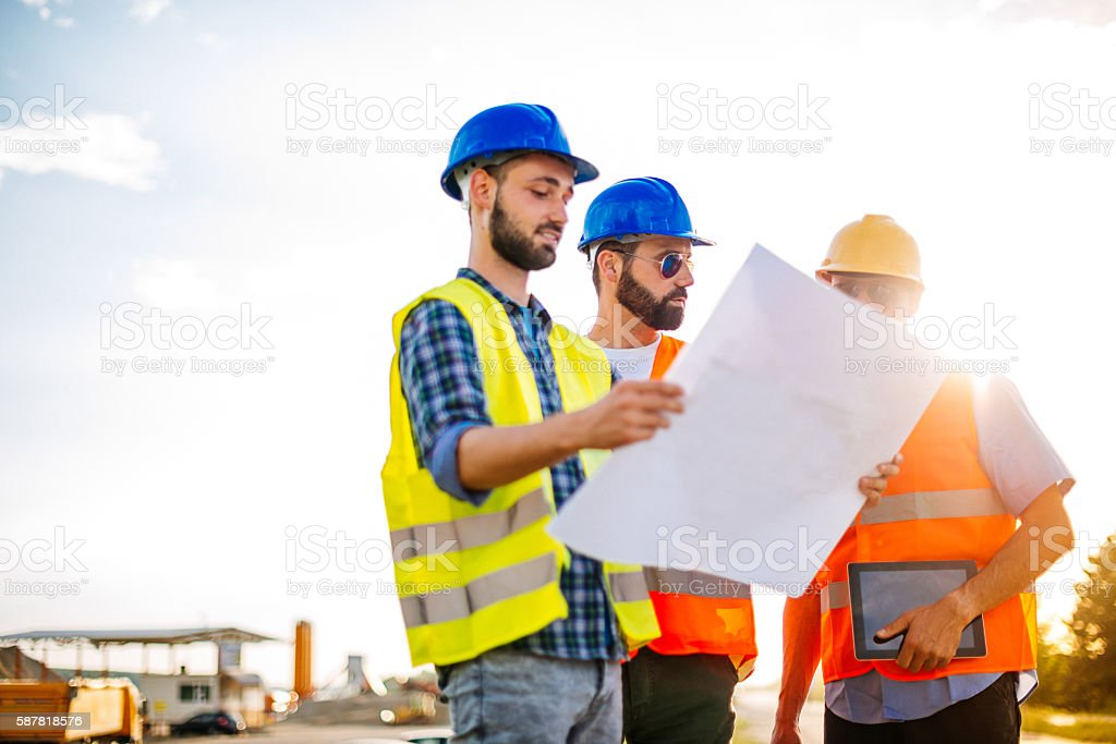 Our goal is to finish this architecture masterpiece stock photo