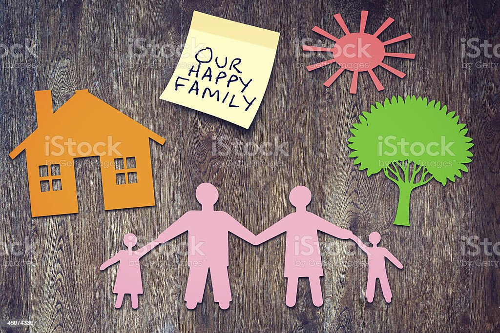 Our happy family. Conceptual image stock photo