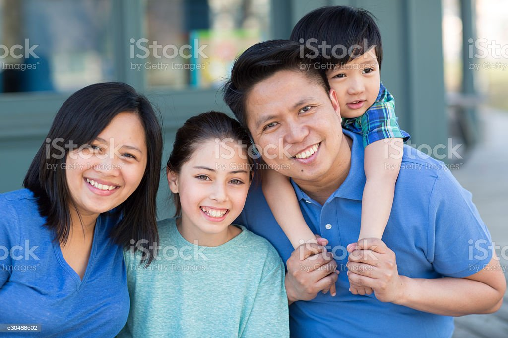 Our happy family stock photo