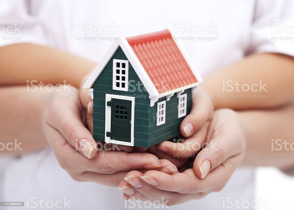 Our home is protected royalty-free stock photo