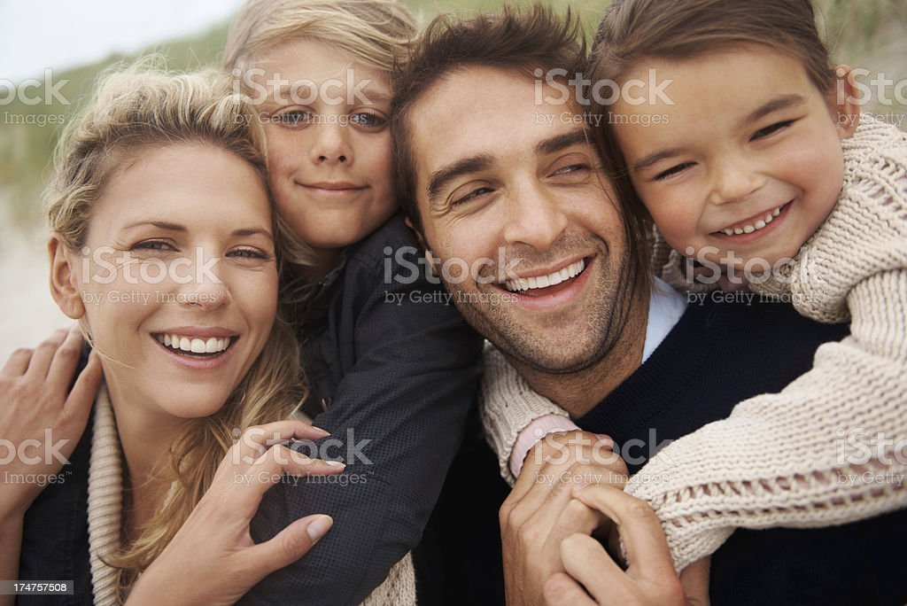 Our kids love the beach! royalty-free stock photo