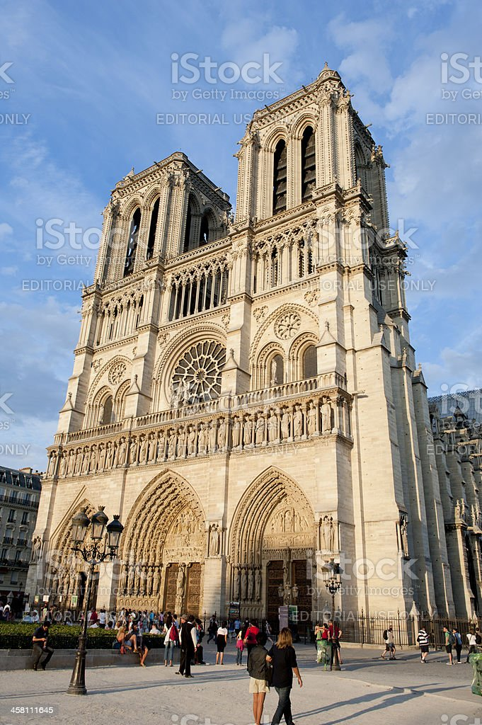 Notre Dame Cathederal stock photo