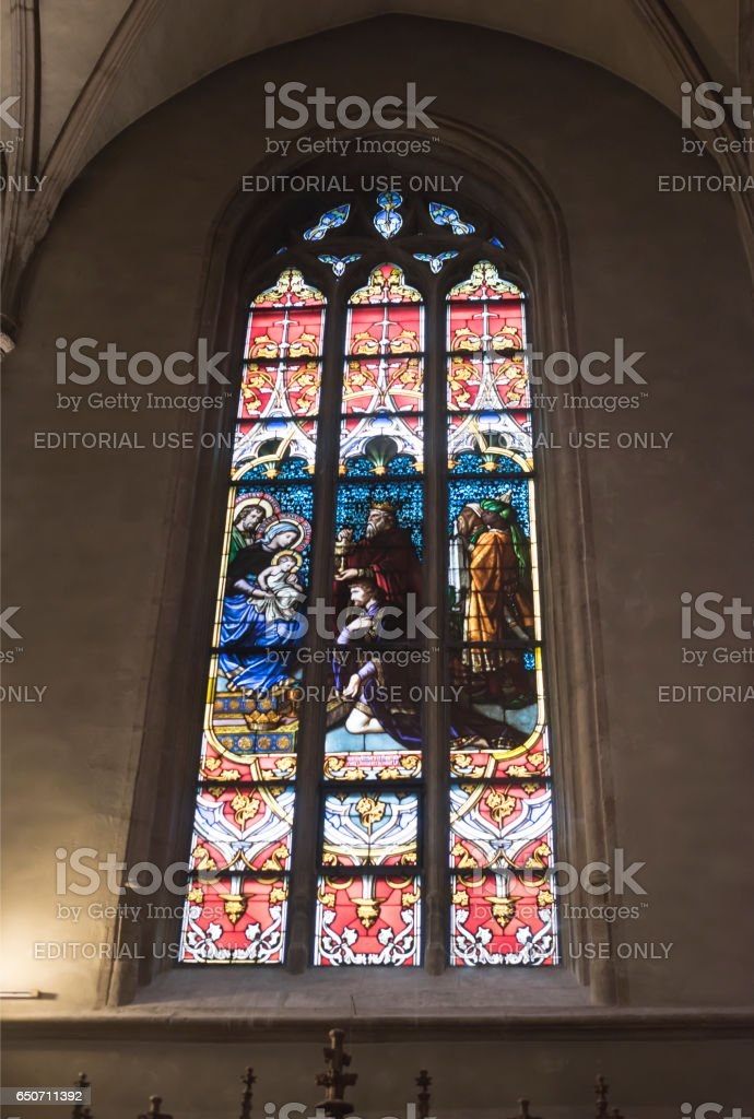 Notre-Dame Chatnedral stock photo