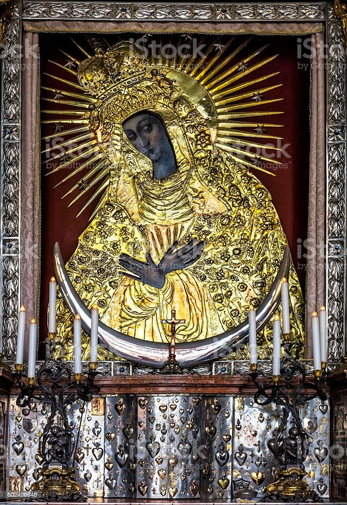 Our Lady Icon, Lithuania stock photo
