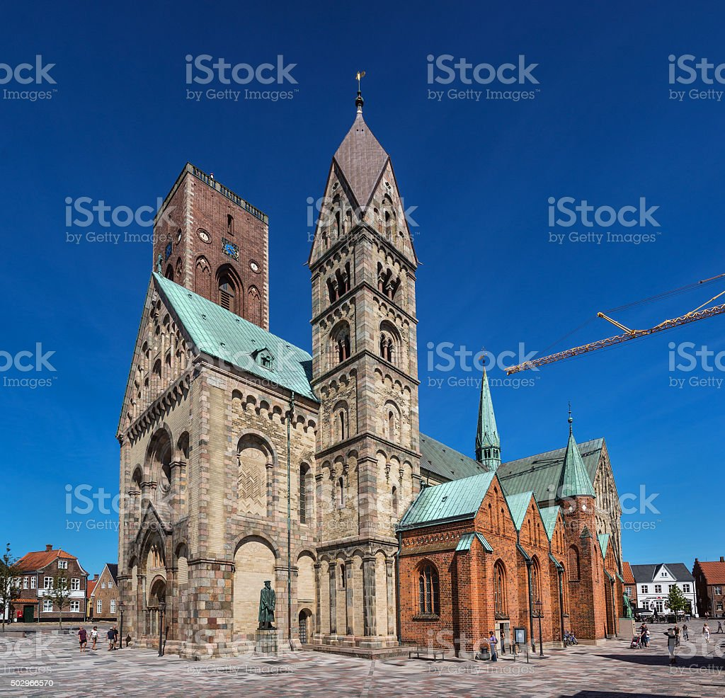 Our Lady Maria Cathedral in Ribe, Southern Jutland, Denmark stock photo