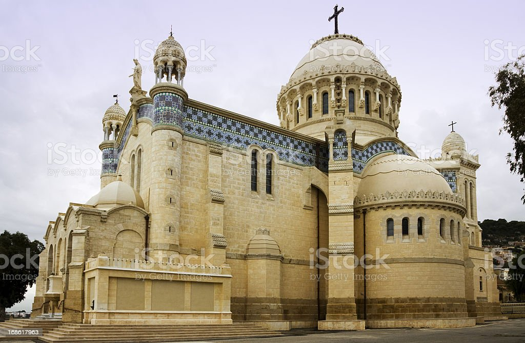 Our Lady of Africa Basilica in Algiers stock photo