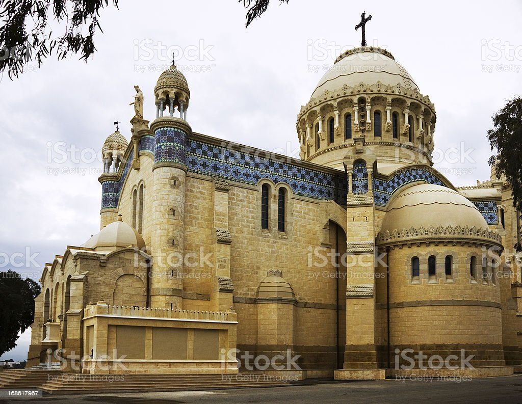 Our Lady of Africa Basilica in Algiers royalty-free stock photo