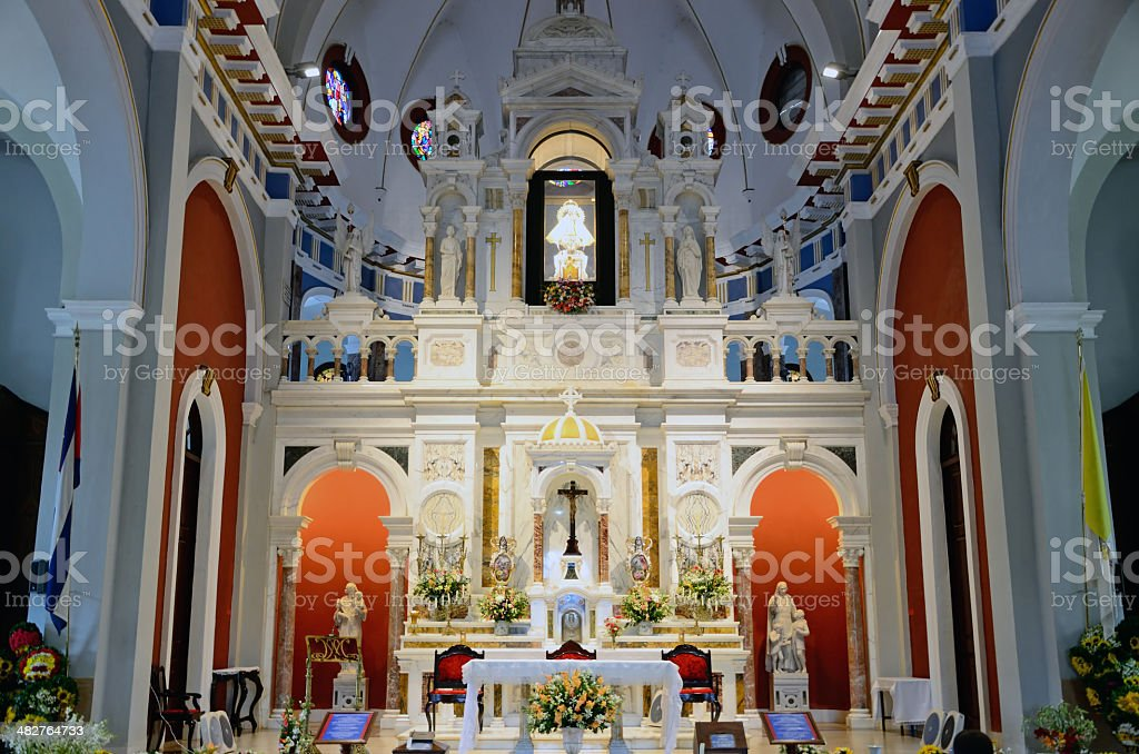 Our Lady of Charity basilica, Cuba stock photo