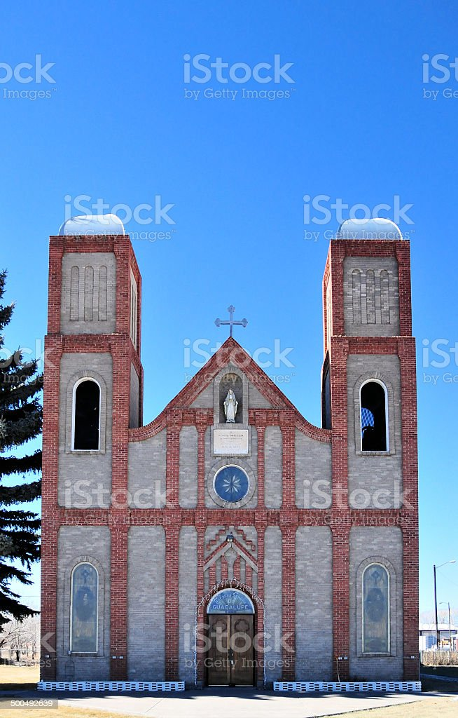 Our Lady of Guadalupe Church, Conejos, Colorado stock photo